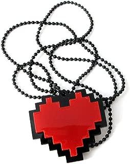 Pixels Heart Necklace - Undertale cosplay of Frisk - 24