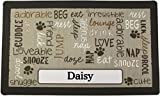 Drymate Pet Placemat Personalized, Dog Food Mat, Cat Food Mat, Pet Food Mat - Absorbent/Waterproof - Machine Washable, Durable, (USA Made) (12 Inches x 20 Inches) (Linen Tan)