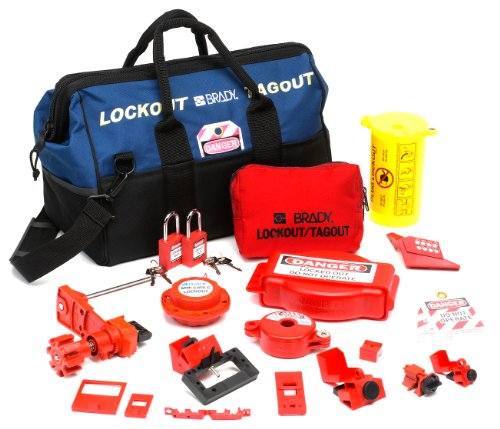 Brady Combination Lockout Duffel for Electrical and Valve Lockout, Includes 2 Safety Padlocks and 2 Tags