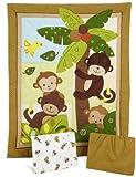 Bedtime Originals Curly Tails Monkey 3-Piece Baby Crib Bedding Set,...