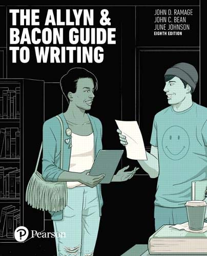 The Allyn & Bacon Guide to Writing (8th Edition)