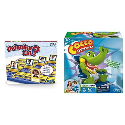 Indovina Chi? (gioco in scatola Hasbro Gaming - Versione in Italiano) &Hasbro Gaming - Cocco Dentista (Gioco in Scatola), B0408103, 4 anni +