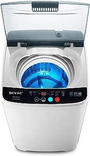 OKVAC Portable Washing Machine, 8lbs Top Load Washer&Spin, 8 Preset Programs Panel with Child Lock