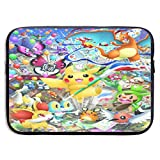 LEICH7 Pikachu and Friends Poke-mon Water Repellent Neoprene Laptop Sleeve Case Bag Cover 13/15 Inch MacBook Pro, MacBook Air, Notebook