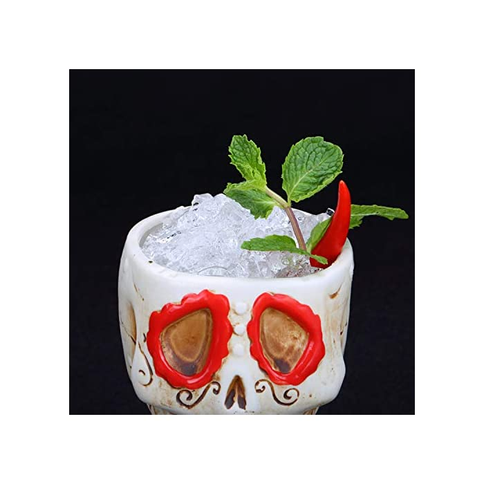 Cocktail Hawaiian Tiki Mug Ceramic Wine Beer Cup Cocktail Glass Creative Bar Partyfunny Coffee Mug For Homeofficegift 26 Zombie Skull