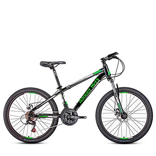 Clouds Bicicletas de montaña, 21 velocidades, 24 Pulgadas, Marco de Aluminio Ligero, Bicicleta de Carretera para Hombres, Frenos de Disco Dobles, Bicicletas de Carreras, para entusiastas del Ciclismo