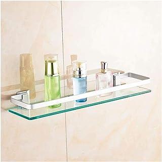 Support de rangement en verre trempé fixé au mur étagère de salle de bains Accessoires de cuisine Organisateur de salle de...