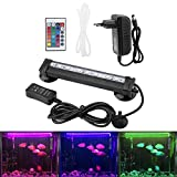 Zerodis LED Aquarium Light Sumergible Burbuja de Acuario Bubble Light con Mando Sumergible Lámpara LED de Colorido para Kit Luz Acuario (16 cm)