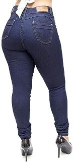 Calça Jeans Feminina Hevox Skinny Escura Luanny Azul