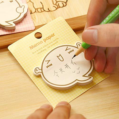 PMSMT Emoticon de Dibujos Animados creativos inspiradores N Veces Pegatinas Lindo Post-it Notas Mensaje Cuaderno