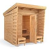 Isidor cabina de sauna Sauna de exterior 2x 2m madera maciza...