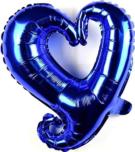 SauParty 3 Unidad sin Globo de Helio ! Poco Corazón Globos Azul Regalo Día de San Valentín