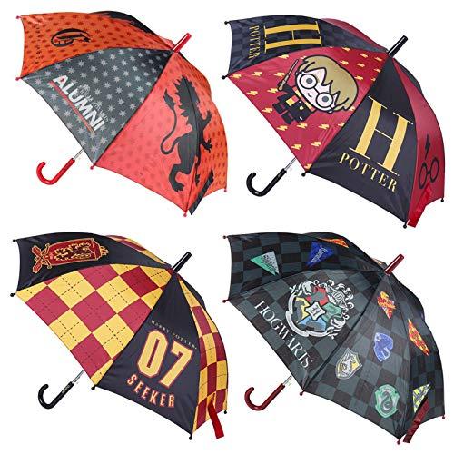 Paraguas AUTOMÁTICO Harry Potter Hogwarts(Juvenil) -4 Modelos -1 Unidad aleatoria