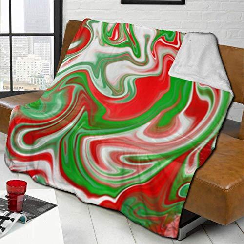 AmyNovelty Mantas de patrón de mármol Abstracto de Orgullo Italiano, Manta de sofá Lavable para Descanso de Abuelos Adultos,102x127cm