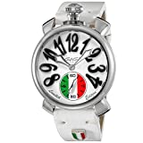 GaGà Milano 5010.LE.IT.02 - Reloj mecánico, 48 mm, edición limitada, acero inoxidable