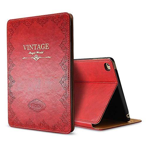 iPad Mini 5 Case Leather 2019 7.9-inch, Awsaccy(TM) Premium PU Leather Modern Smart Folio Magnetic Case for Apple New iPad Mini 5th Gen Case Auto Sleep Wake Slim Fit Multi Angle Red