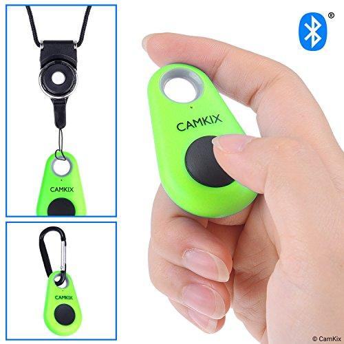 CamKix Telecomando Otturatore Fotocamera con Tecnologia Wireless Bluetooth® - Cordino con Anello Rimovibile - Moschettone - Cattura Immagini/Video Senza Fili fino a 10 m (30 ft) su iPhone/Android