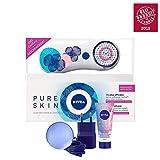 NIVEA Pure Skin Brosse Nettoyante Visage Electrique Kit Edition Limitee Blanc
