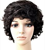 Forever Young Ladies Short Off Black Dark Brown Lifting Fashion Wig with Rolling Curls by Forever Young