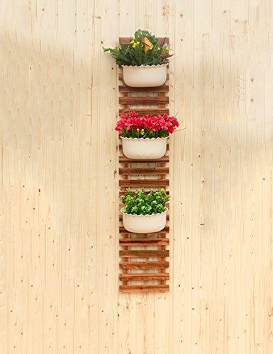 XIAOLIN- Cadre de mur en bois massif Cadre décoratif en bois suspendu Flower Rack Grille en bois de bois Racks de fleurs en plein air Carbonated Clôture Rack (une variété de tailles peuvent être librement combinés) --Cadre de finition de fleurs ( taille : 25*100cm )