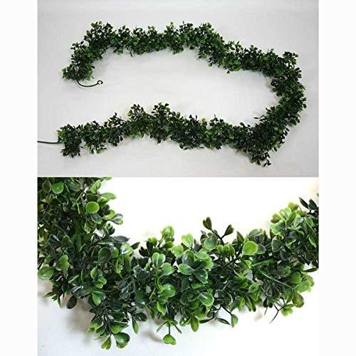 Seidenblumen Roß Buchsgirlande 170cm GA Kunstpflanzen Buxgirlande Buchsbaumgirlande künstliche Buchsgirlande Kunstbux