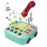 人気の知育玩具 音楽 楽器 ピアノ赤ちゃんのおもちゃ キーボード 子供多機能幼児教育電話車 親子ゲーム 誕生日 クリスマス プレゼント 贈り物 入園お祝い 男の子 女の子2 3 4 5 歳 学習 早期教育 英語 外国語