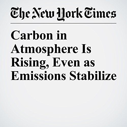 Carbon in Atmosphere Is Rising, Even as Emissions Stabilize copertina