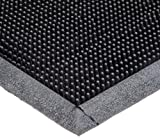 Durable Heavy Duty Rubber Fingertip Outdoor Entrance Mat, 24' x 32', Black