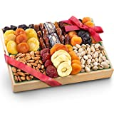 Pacific Coast Deluxe Dried Fruit Tray with Nuts Gift with Almonds and Pistachios for Holid...