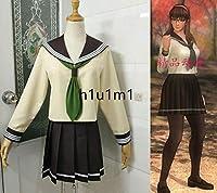 コスプレ衣装◆DEAD OR ALIVE5/マリー・ローズ 瞳 制服 セーラー服