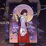 Bvlglp 5D DIY「Japanese Anime Inuyasha Photo」Kits de Dibujo de Diamantes,Diamante imitación de para Bordado de Punto de Cruz,Manualidades para decoración de la Pared del hogar -40x60cm