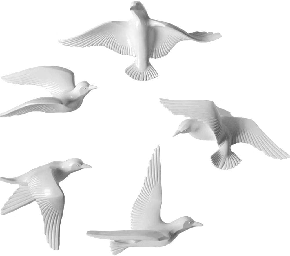 Direct store MOCOHANA 5 Pack Seagull Wall Safety and trust Sculptures Decor Bird Flying Resin