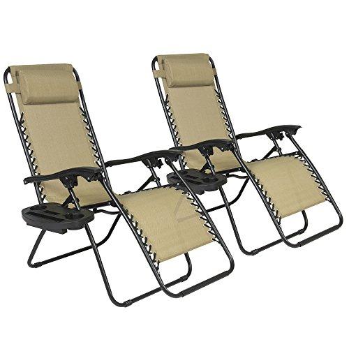 Best Choice Products Set 2 Sillas Plegable UV Camping Picnic Jardín con Portavasos