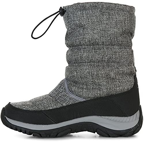 Ashra Women's Fleece Lined Snow Boots - GREY MARL 41