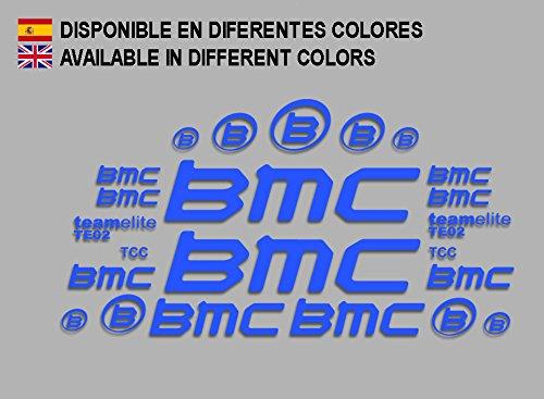 Ecoshirt 04-QYK4-21CW Aufkleber BMC F167 Vinyl Adesivi Decal Aufkleber-Set Links blau MTB Stickers Bike