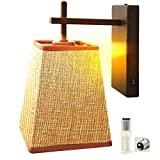 Facon LED RV Fabric Light Fixture with Flared Wall Sconce Shade, Wall Mount LED Decor Lamp with Switch, 12V DC Interior Light for RV Motorhome Camper Trailer, Oil Rubbed Bronze Finished