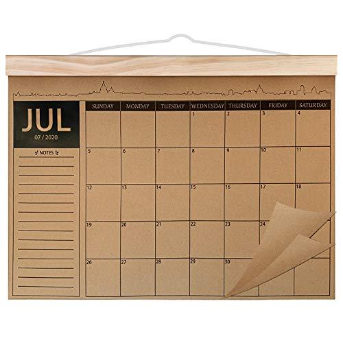 Norjews Kalender 2020-2021, 18-monatiger Familienplaner Kalender, Dickes Kraftpapier Wandkalender, Schreibtischunterlage Kalender Jul. 2020–Dec. 2021 (42 x 31cm)