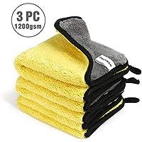 WORKPRO 3 Pack Bayetas de Limpieza Toalla Microfibra Multiuso 1200GSM 30 * 30 CM 80% Poliéster y 20% Poliamida