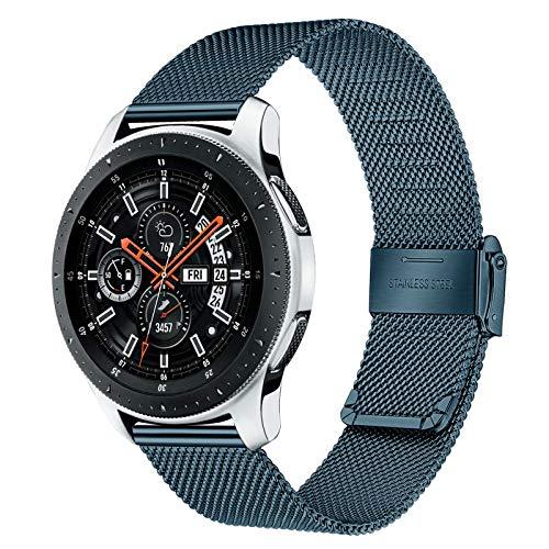 TRUMiRR Remplacement pour Samsung Galaxy Watch 46mm/Gear S3 Frontier/Galaxy Watch3 45mm Bracelet,22mm Bracelet de Montre en Acier Inoxydable Bracelet en métal à dégagement Rapide pour Huawei Watch GT