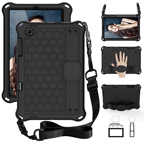 Funda protectora para tablet Sansung Galaxy Tab S6 Lite P610, diseño de panal de abeja EVA + material de PC, cuatro esquinas anti caída, carcasa protectora plana con correa (color: negro + negro)