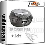 kappa maleta k355nt 35 lt + portaequipaje monolock compatible con triumph bonneville t100 2020 20