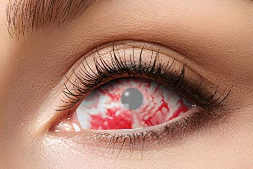 Zoelibat 84091541.s32 - Farbige Sclera Kontaktlinsen, Rotes Lava, Undurchsichtig, totale Sichteinschränkung, Farblinsen, 6 Monate, weiche Linsen, 2 Stück, Rollenspiele oder Fetisch