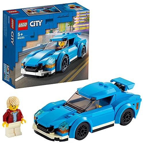 LEGO 60285 City Sportwagen Spielzeug mit abnehmbarem Dach, Rennwagen-Bauset