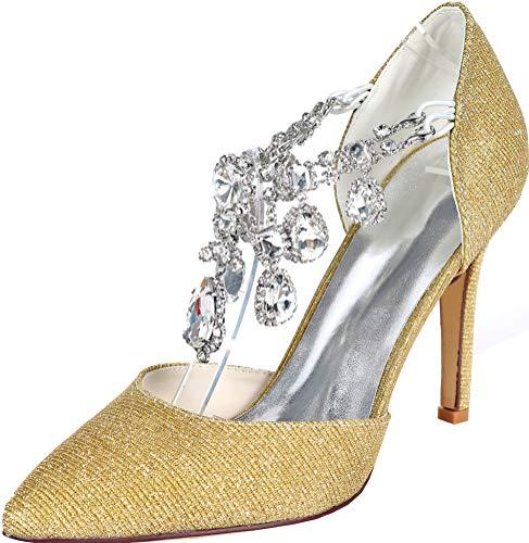 Zapatos de tacón de Boda para Mujer, con Tiras en los Tobillos...