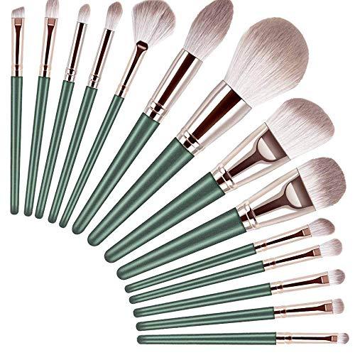 Makeup Brushs, 14+1Pcs Professional Makeup Brush Set, Advance'd Plant Fiber And Solid Wood Brush Handle, Foundation Loose Powder Blush Eye Shadow Brush Set LATT LIV