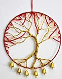 Now Is Now Gold Tree of Life Wall Art, Gold Christmas Tree, Gold & Red Wall...