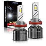 QUTEEK Smart 3 Colors H11 LED Headlight Bulbs,80W,10000LM,(3000K Golden Yellow,6000K Xenon White,4300K Warm White),H8/H9 Conversion Kit Replace for Halogen or HID,Pack of 2