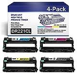 4PK(1Black+1Cyan+1Yellow+1Magenta) DR221CL Drum Unit DR-221CL Drum Cartridge Replacement for Brother DR221CL HL-3140CW 3150CDN MFC-9130CW 9140CDN DCP-9015CDW 9020CDN Printer Cartridge.