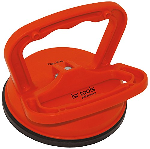lsr tools Platten-Saugheber, ca. 30kg tragkraft, roter ABS-Kunstoff, für den Transport von Glasplatten, Fenster usw, Profiqualität, Plattenheber,