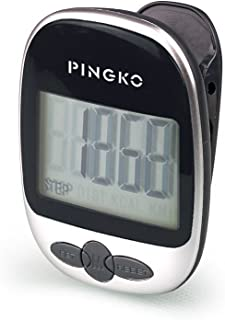 PINGKO Multi-Function Portable Outdoor Sport Pedometer Step/Distance/Calories/Counter - Black